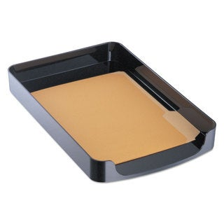 Officemate 2200 Series Front-Loading Desk Tray Single Tier Plastic Legal Black