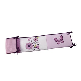 NoJo Butterfly Blossom Multicolor Cotton Padded Crib Bumper