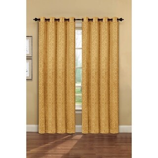 Window Elements Matine Embossed Velvet Extra Wide 84-inch Grommet Curtain Panel - 54 x 84