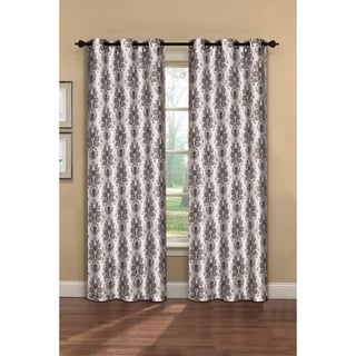 Window Elements Meridith Printed Faux Silk 84-inch Grommet Curtain Panel Pair - 76 x 84
