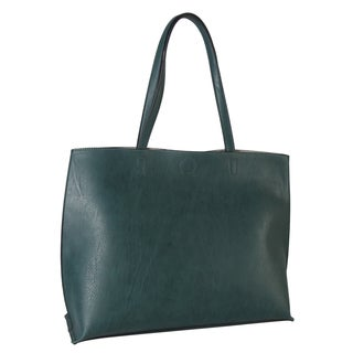 Diophy PU Leather Two Tone Reversible Large Tote Womens Purse Handbag Accented with Coin Purse