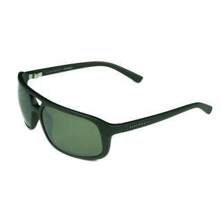 Serengeti Men's Livorno Satin Black Plastic Frame Grey Polarized Lens Sunglasses