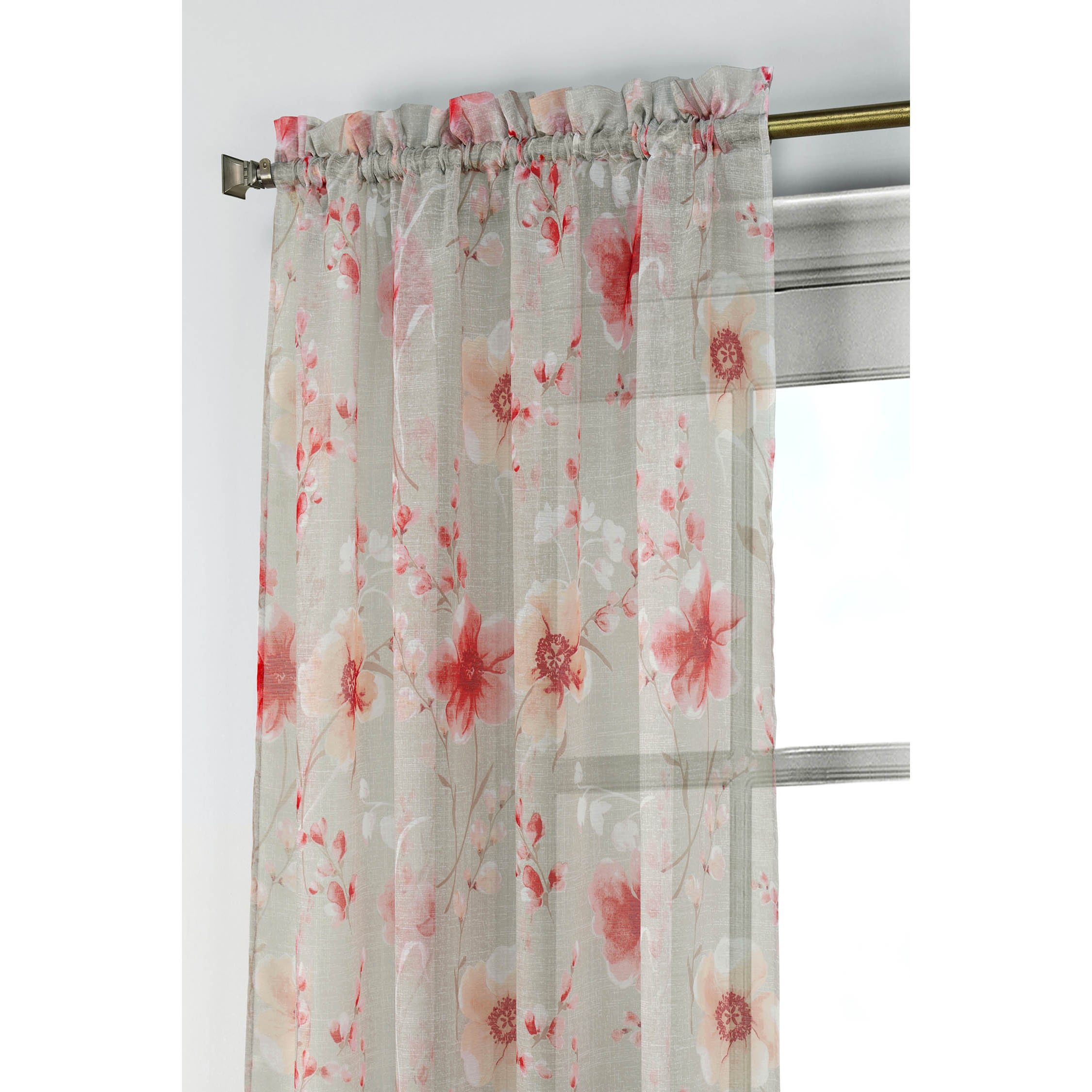 Window-Elements-Pamela-Printed-Sheer-Extra-Wide-96-inch-Rod-Pocket-Curtain-Panel thumbnail 9