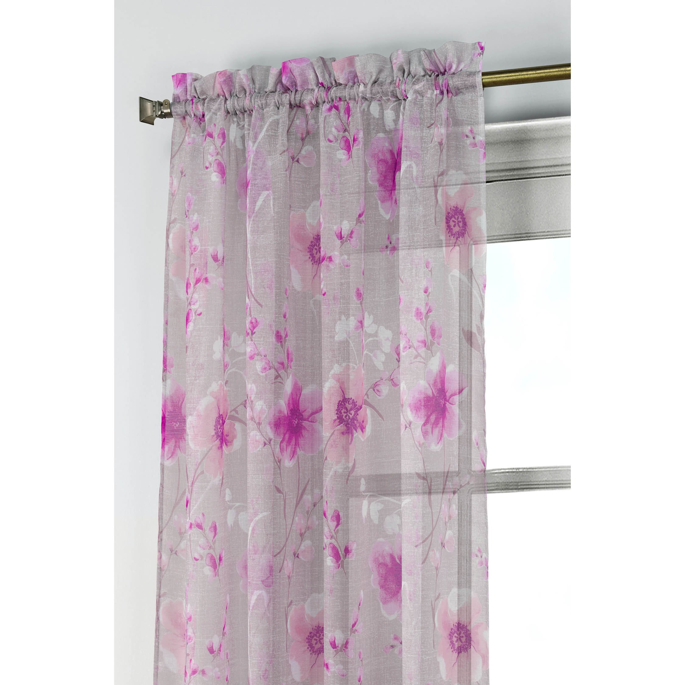 Window-Elements-Pamela-Printed-Sheer-Extra-Wide-96-inch-Rod-Pocket-Curtain-Panel thumbnail 10
