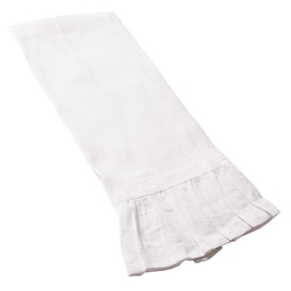 FRENCH RUFFLE GUEST TOWEL, LINEN, (SET OF 2)