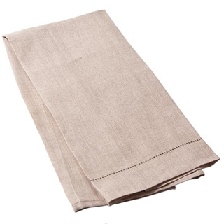 Cottage Home Natural Tan Linen Hemstitched Guest Towel (Set of 2)