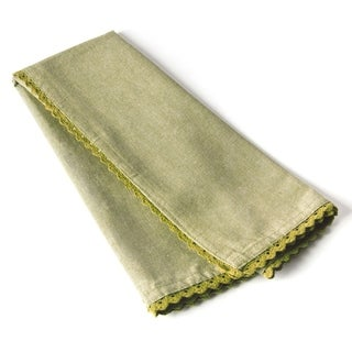 Cottage Home Olive Cotton Lace Tea Towel (Set of 2)