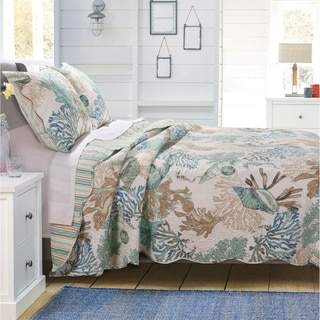 Link to Porch & Den Gwinn Coastal Reversible Quilt Set Similar Items in Quilts & Coverlets