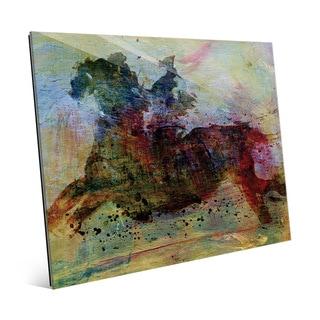 'White Horse Dark Horse' Glass Wall Art Print