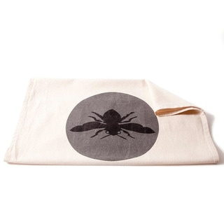 Cottage Home Bee Grey Cotton Tea Towel (Set of 2)