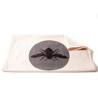 Cottage Home Bee Grey Cotton Tea Towel (Set of 2)