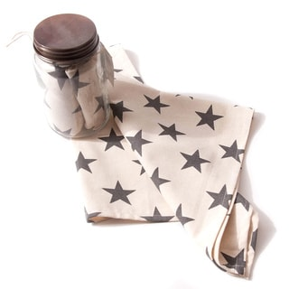 Star in Jar Natural and Navy Cotton 28-inch Tea Towels