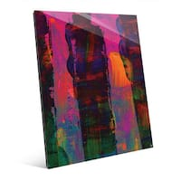 'SiTeCah' Multicolor Glass Ready-to-hang Wall Art Print