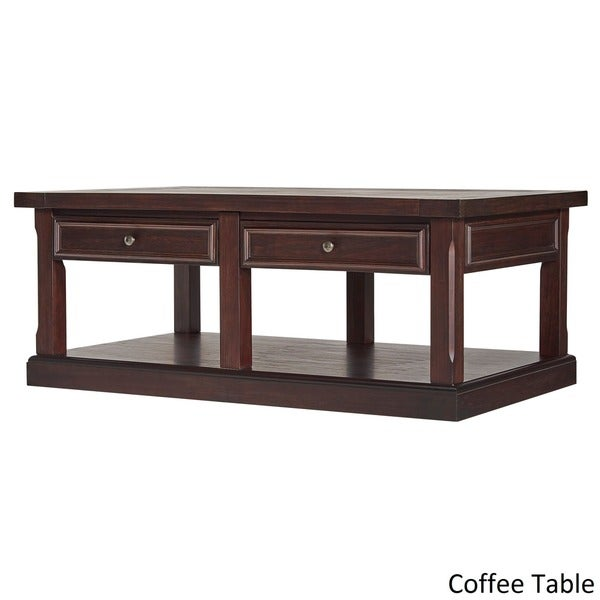 Jenson Espresso Wood Accent Tables By INSPIRE Q Classic   Free Shipping  Today   Overstock.com   20742154