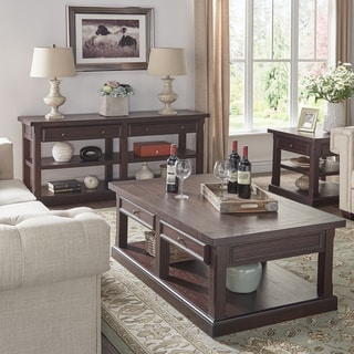 Jenson Espresso Wood Accent Tables by TRIBECCA HOME