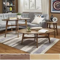 Shop Ink Ivy Blaze Brown Triangle Wood Coffee Table On