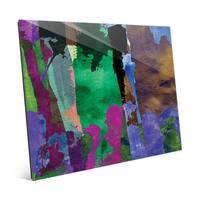 'Purple Forest' Glass Wall Art Print
