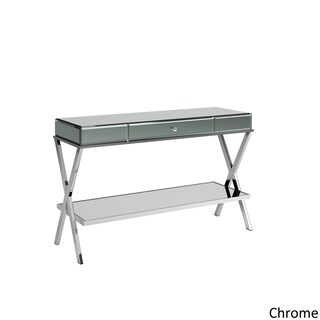 Omni X-Base Mirrored TV Stand with Drawer by iNSPIRE Q Bold (Option: Chrome)