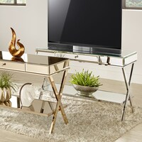 Omni X Base Mirrored TV Stand With Drawer By INSPIRE Q Bold