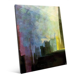 'Gotham Dawn' Glass Wall Art Print