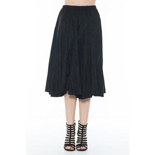 Morning Apple Women's Suede Flowy Mid-lengh Skirt