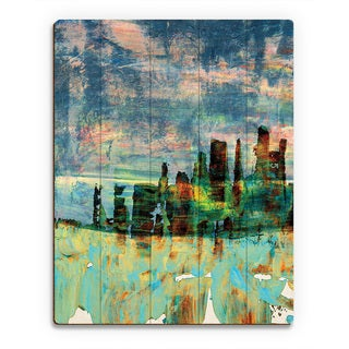 'Nine Past Midnight' Wooden Wall Art Print (More options available)
