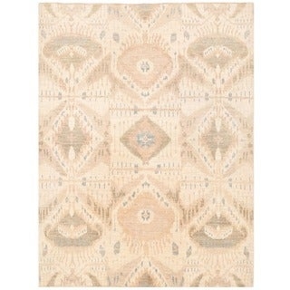 Herat Oriental Afghan Hand-knotted Vegetable Dye Ikat Wool Rug (4'11 x 6'7)