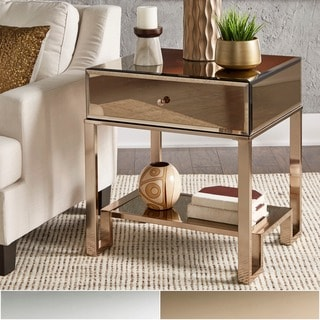 Akiko Mirrored 1-Drawer End Table by iNSPIRE Q Bold