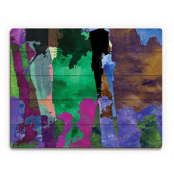 'Purple Forest' Wooden Wall Art Print