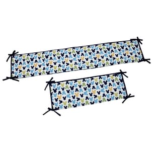 Disney My Friend Mickey Multicolor Cotton-blend Padded Crib Bumper