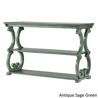 Lorraine Wood Scroll TV Stand Sofa Table by iNSPIRE Q Classic (Option: Antique Sage Green)