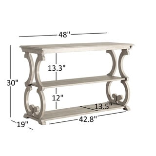 Lorraine Wood Scroll TV Stand Sofa Table by TRIBECCA HOME