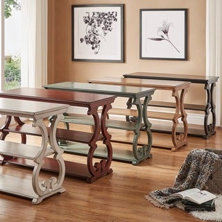 Lorraine Wood Scroll TV Stand Sofa Table By INSPIRE Q Classic (5 Options  Available)