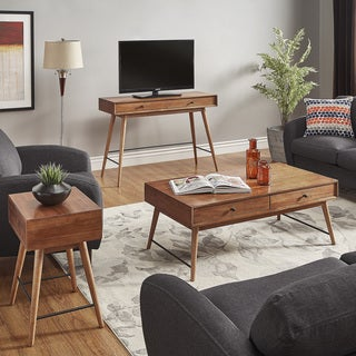 Aksel Brown Wood Accent Tables iNSPIRE Q Modern