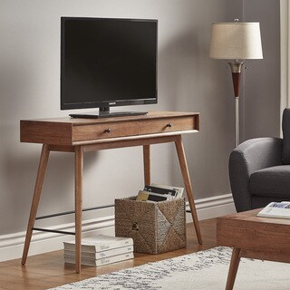 Aksel Brown Wood 2-Drawer Sofa Table TV Stand iNSPIRE Q Modern