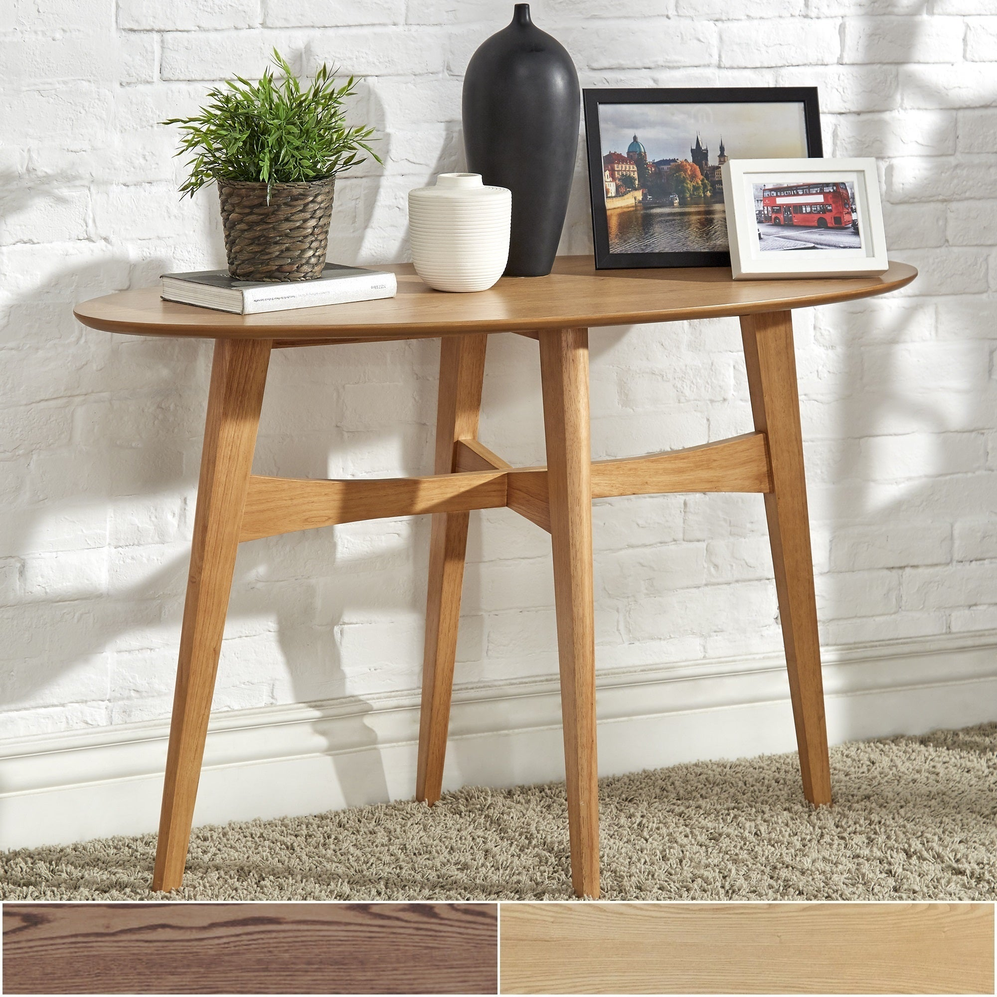 Rona Wood Entryway Console Tables iNSPIRE Q Modern (Dark .