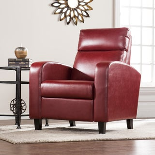 Harper Blvd Bedford Faux Leather Two-Step Recliner - Roman Red