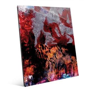 'Gonkoro' Multicolored Acrylic Wall Art Print