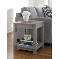 Ameriwood Home Carver Grey/ Sonoma Oak End Table