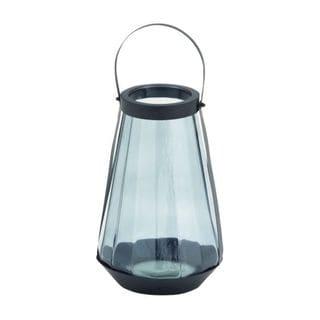 Benzara Grey Glass/Metal Lantern