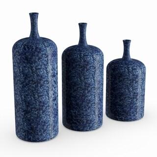 Benzara Grey Ceramic Vase (Set of 3)