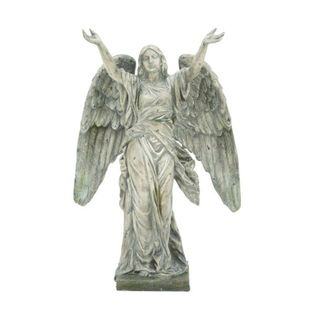 Benzara Polystone 23-inch Wide x 35-inch High Angel