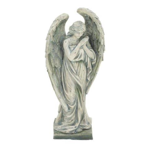 Gracewood Hollow Haley Grey Polystone Angel Figurine