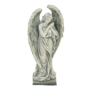 Benzara Grey Polystone Angel Figurine