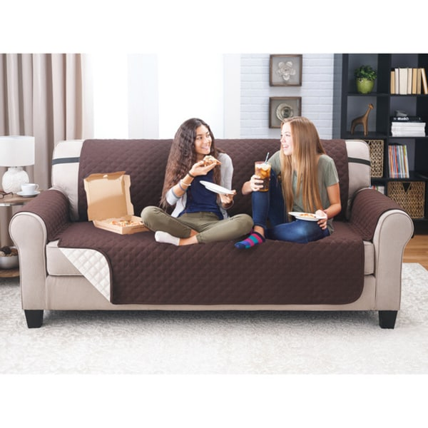 Charmant Reversable Quilted Sofa Cover