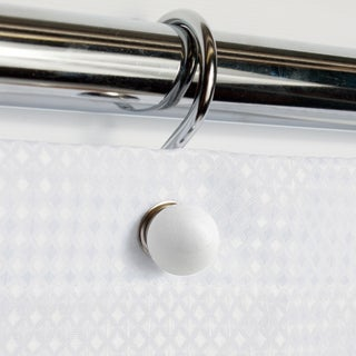 Metal White Ball Shower Hook Set