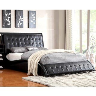 Modern Style Wave Design Black Upholstered Bed|https://ak1.ostkcdn.com/images/products/14139401/P20742691.jpg?impolicy=medium