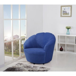 Newton Blueberry Swivel Barrel Chair