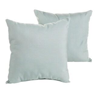 Sunbrella Canvas Spa Blue Indoor/ Outdoor Square Knife Edge Pillow Set