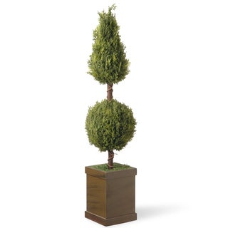 National Tree Company 47-inch Cone and Ball Topiary Tree